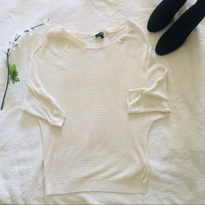 $5 W/ BUNDLE Express Open Knit White Sweater